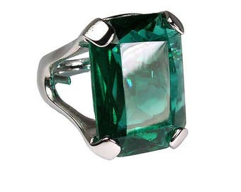 Angelina Jolie Inspired Emerald Ring