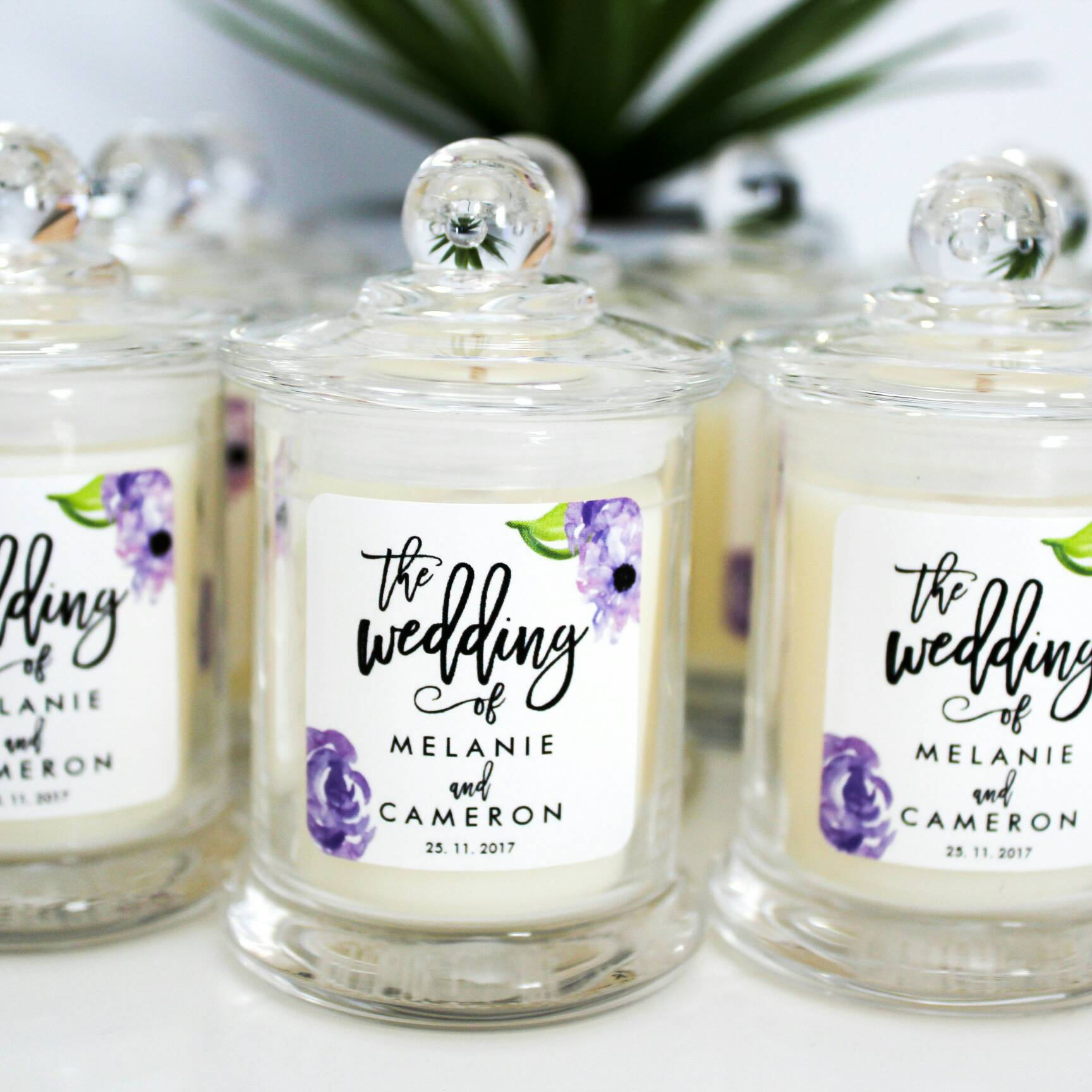 Candle Wedding Favours Small Danube Jar