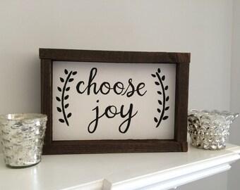 Choose Joy Sign