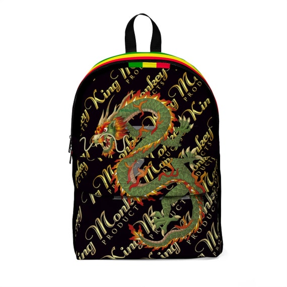 King Monkey Products Unisex Classic Backpack - Green Dragon