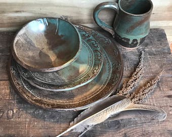 Popular items for rustic dinnerware & Rustic dinnerware | Etsy