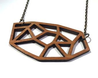 Collier bambou laser coupe / gratuit livraison dans le monde entier / bois bijoux
