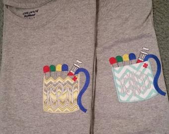 Personalize Phlebotomist pocket T-shirts,  Phlebotomist T-shirt