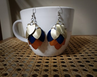 Super Saiyans Inspired Scalemaille Earrings - Small Scales