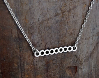 Simple Circle Necklace, Minimal Style Jewelry, Circle of Love, Bar Necklace, Choker, Animal Rescue, I Love My Dog Jewelry, Gifts