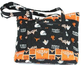 University of Texas Large Tote Bag-Texas Longhorns Tote Bag-Texas Longhorns Quilted Bag