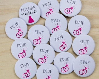 14 + 1 bride bachelorette party badges