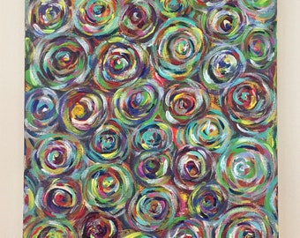 "Canvas Art - Abstract Painting - Swirl Painting - Colorful Painting - ""Are We There Yet"""