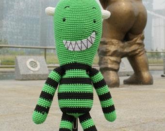 Amigurumi Pattern, Handmade, PDF, Digital file, Doll, Crochet, PDF Pattern, Monster, Frankenstein, Monster Frankenstein