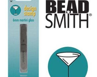 BeadSmith 6mm Martini Glass Metal Stamp (LPSD68)