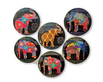 Set of 6 Paisley Elephant Cabinet Knobs