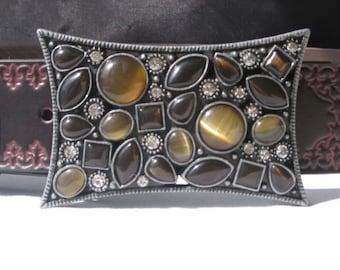 Belt Buckle, Rhinestone Belt buckle, Womens Belt Buckle with leather belt strap, Fashion belt
