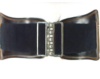 1970's, Lion Non Slip Band, vintage, leather, back support, kidney belt, lifting belt, black leather, Harley parts, biker belt, weightlift