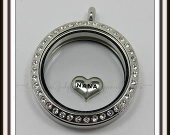 Nana Floating Charm for Glass locket / Floating Locket / Memory Locket