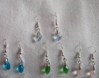 Earrings Crystal drops colors