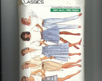 Vintage Butterick Misses' Pants, Shorts, and Skirt Pattern 6249
