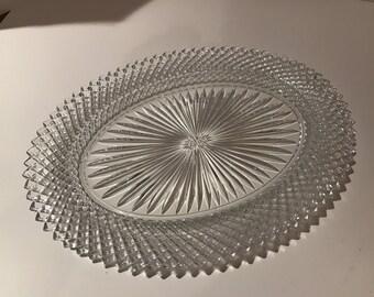 Vintage Oval Glass Platter