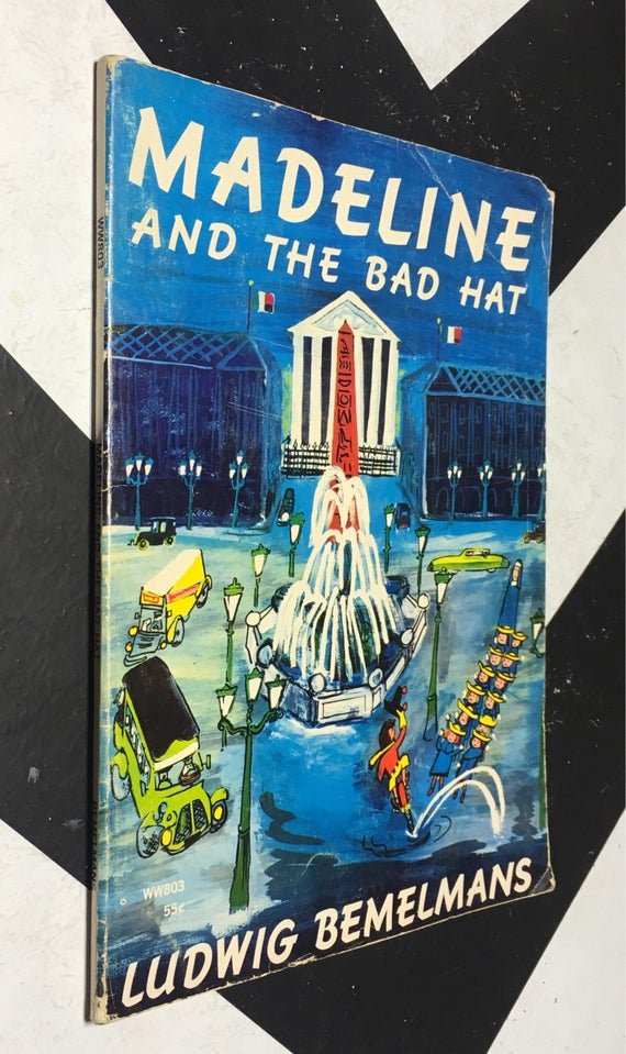 Madeline and the Bad Hat by Ludwig Bemelmans (Softcover, 1968) vintage book