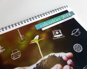 personalized calendar 2018