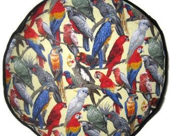 Parrots Pouffe Footrest Floor Cushion Pouf