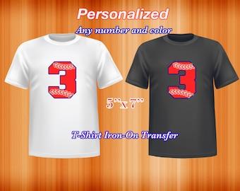 Number Baseball Iron on Transfer, Personalized, pdf