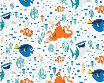 Finding Dory Cotton Fabric by Camelot! 3 Options [Choose Your Cut Size]
