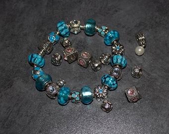 Vintage Pandora Bracelet with Beads plus Extra Beads