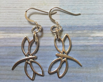 SS dragonfly  earrings sterling earrings beach earrings dragon fly jewelry