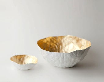 Large Gold Paper Bowl
