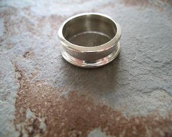 Bande de mariage-7mm-hommes-Sterling argent RF066