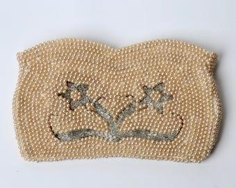 1950's Champagne Pearl Clutch