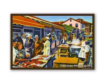 San Francisco Fishermans Wharf 1935 - On The Road To California