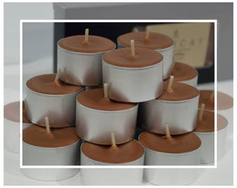 Hand Poured Soy Beeswax Tealight Candles (Tealights) 9 HOUR - Fresh Coffee