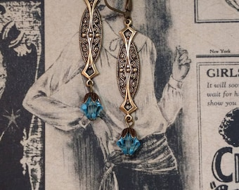 Art Deco Jewelry - Flapper Deco Earrings - 1920s Jewelry - Great Gatsby Wedding Jewelry - Downton Abbey Style Jewelry - Womens Jewelry