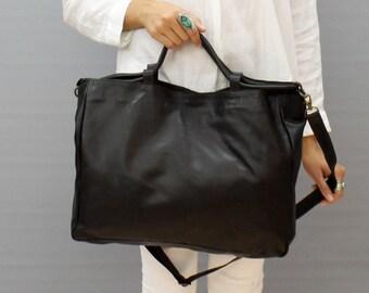 Sale!!! Leather crossbody black leather bag leather shoulder bag Large leather bag Large crossbody Cross body bag Leather large bag