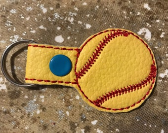 Softball Key Tag