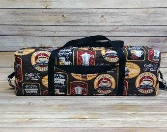 Carrying Case For Cricut Maker, Cricut Explore, Cricut Explore Air, Coffee Theme Tote, Silhouette Carrying Case, Cricut Accessories