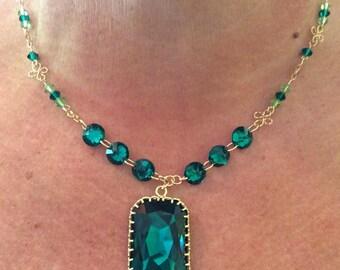 Swarovski Emerald Necklace