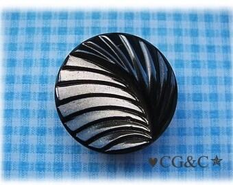 Czech Black & Bronze Button