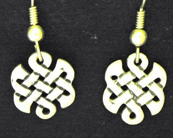 Sterling Silver Celtic Earrings on Sterling Silver French Wires
