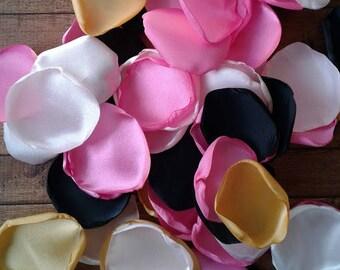 Black and Pink party decor, party decorations, rose petals, sweet 16 decorations, bridal shower decor, Blush rose petals, table decor.