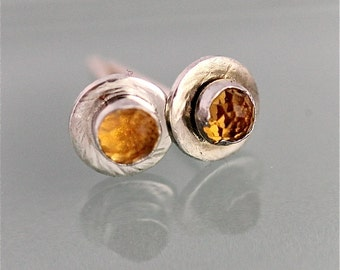 diamond yellow earrings y gold citrine