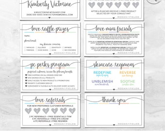 Rodan and Fields Business Card Personalized Digital Files Bundle | Square Heart