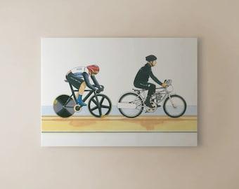 Sir Chris Hoy, Keirin, London 2012 Olympics CANVAS PRINT