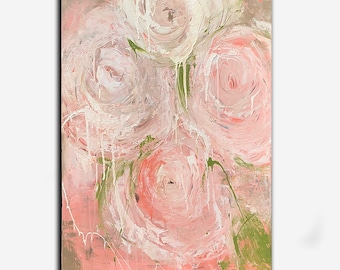 Abstract Flower Rose Painting by Erin Ashley