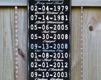 Important Date Custom Wood Sign, 5th Anniversary Gift, Personalized Wedding Gift, Engagement Gift