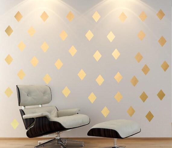 & Gold Diamond Wall DecalBedroom Wall DecalsOffice ArtModern