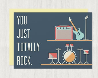 You Just Totally Rock card