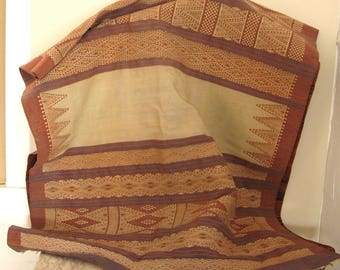 antique hand-woven wool textile