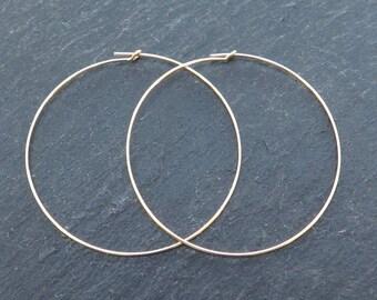 Gold Filled Beading Hoop 45mm ~ PAIR